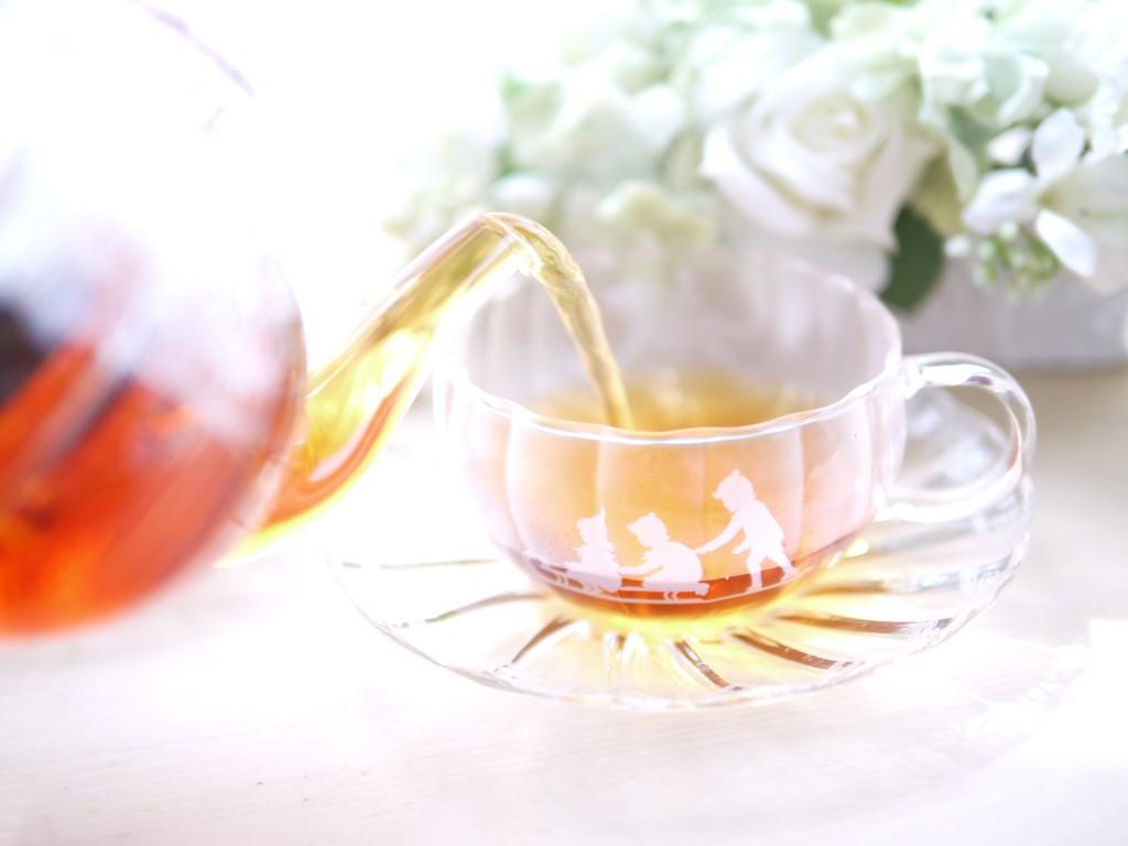ポーセラーツ メルシー銀座 ガラスカップ&ソーサー